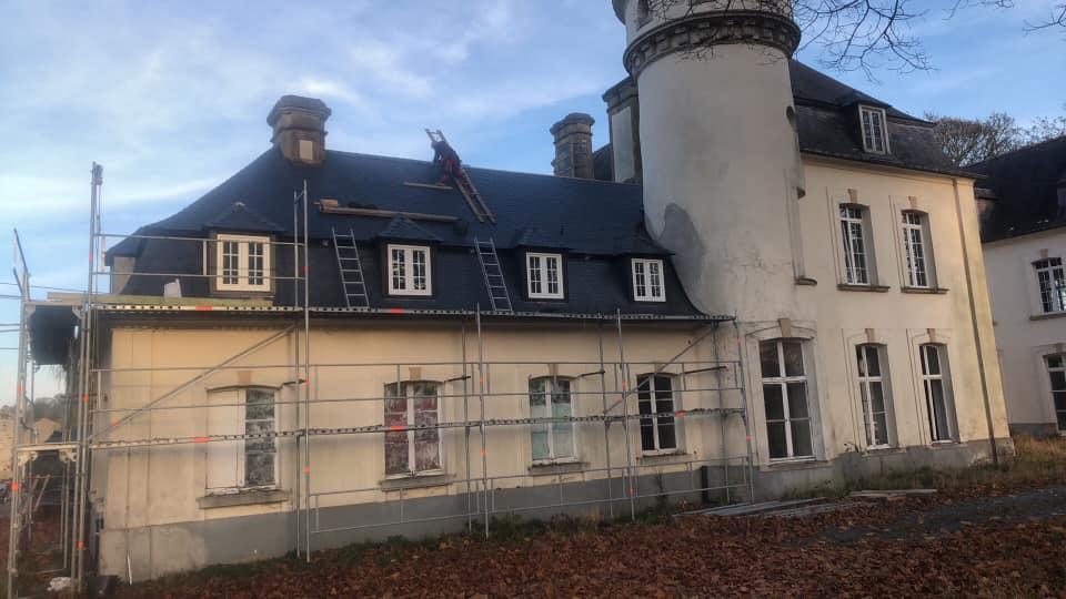 Toiture Santus - Réalisation Chateau de la Hutte Ressaix