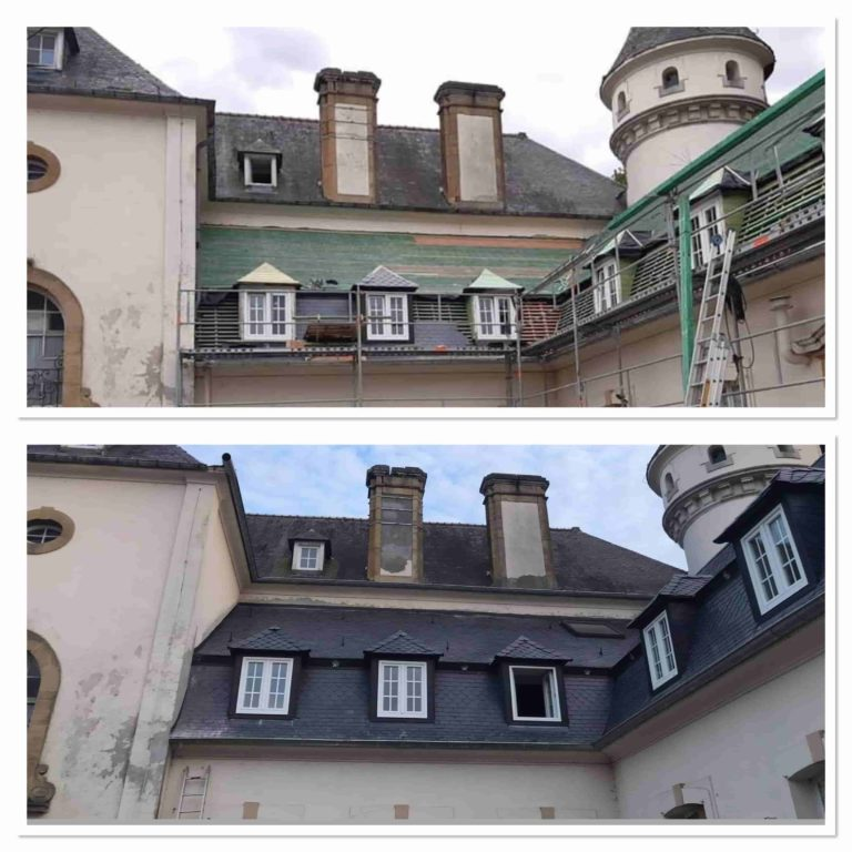 Rénovation Toiture Chateau de la Hutte - Ressaix Binche