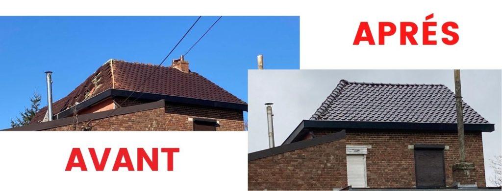 Chantier février 2021 - rénovation toiture et dépassement cédral